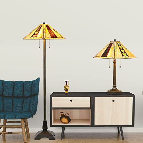 Tiffany Style Mission Lamp Set