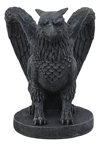 Ebros Mythical Winged Griffon Griffin Eagle Lion Gargoyle Statue Home Decor Figurine 675quot Tall Gothic