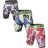 Holure Men's 3 Pack Performance Compression Shorts