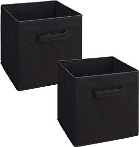 ClosetMaid 3784 Cubeicals Fabric Drawer, Black, 2-Pack