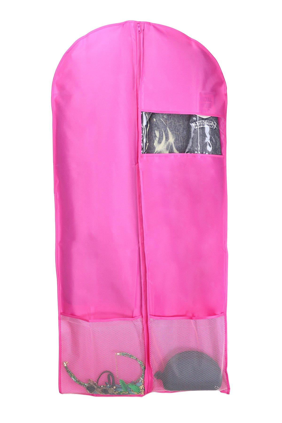 Kernorv Garment Bags for Dance Costumes, Set of 5 Breathable Dust-proof Garment Bags 51'' Dance Garment Bags with Clear Window for Dance Costumes, Dress, Jacket, Storage or Travel (Pink) by Kernorv (Image #7)