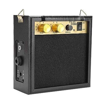 Dilwe Amplificador de Guitarra Eléctrica, PG-05 5W DC 9V Powered Amp Amplificador de