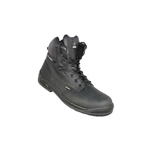 JALLATTE Calzado de Protección de Piel Para Hombre, Color Negro, Talla 39