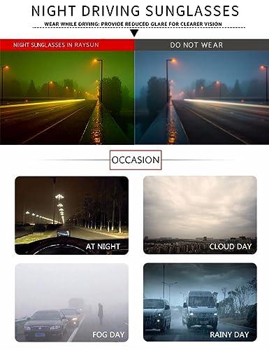 RAYSUN Gafas de sol polarizadas HD para hombre de visión nocturna: Amazon.es: Hogar