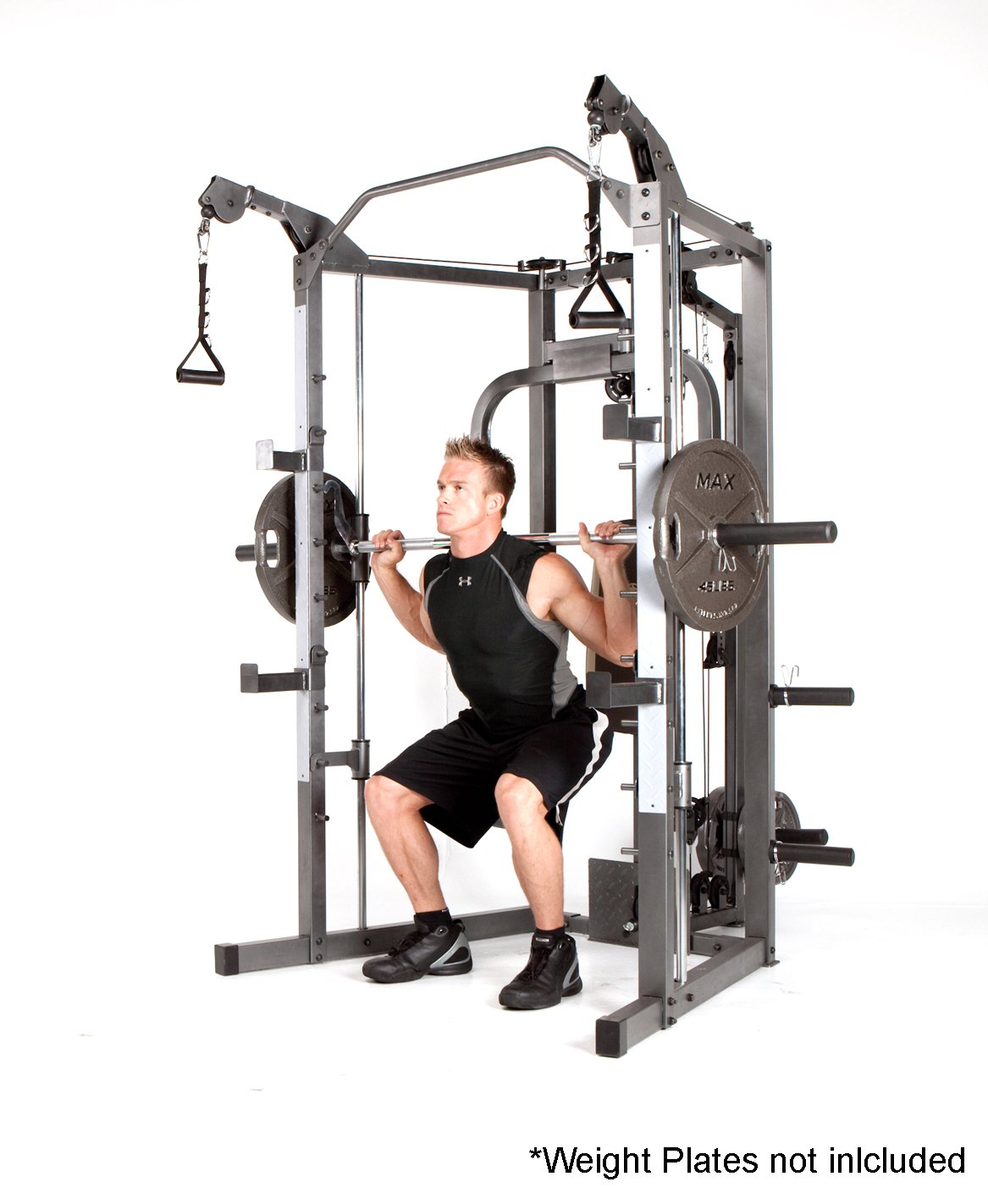 Marcy Smith Machine with Bench and Weight Bar – Home Gym Equipment SM-4008 by Marcy (Image #4)