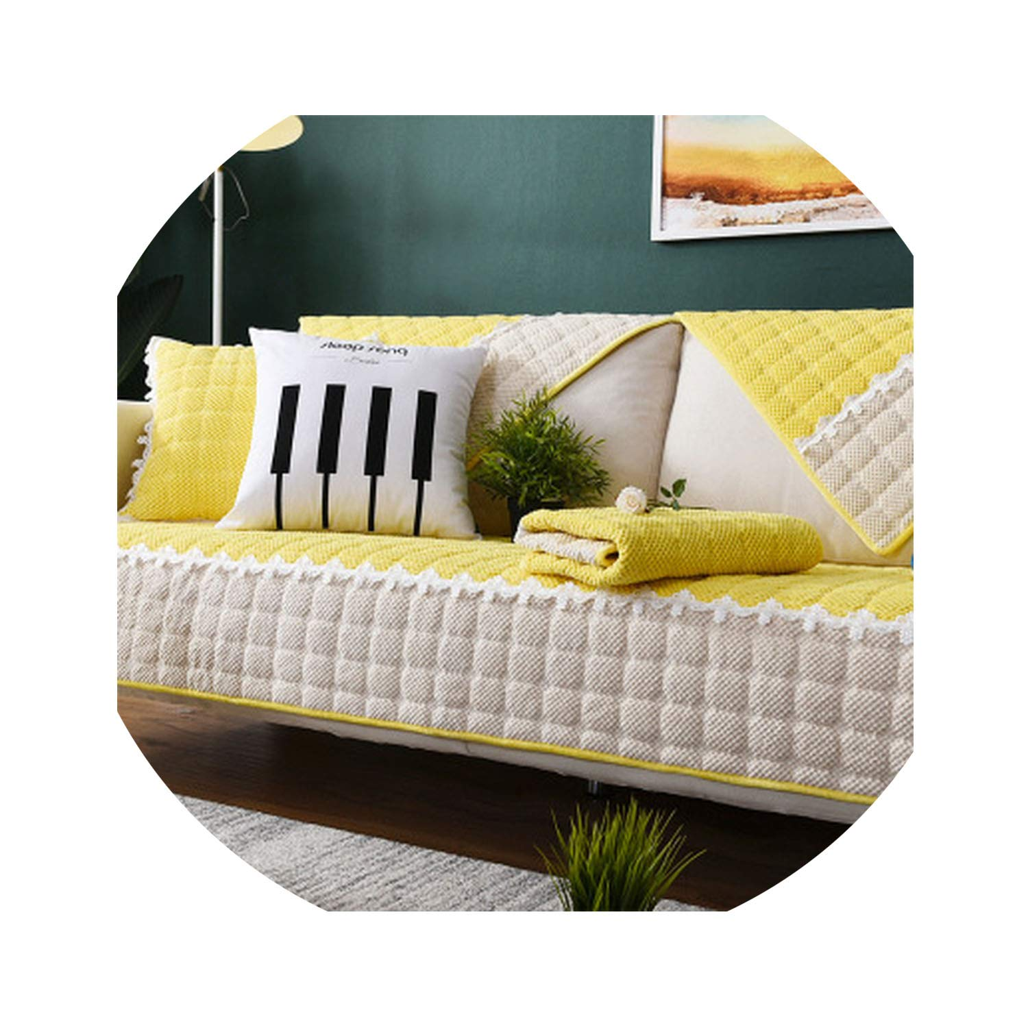 Amazon Modern Lace Sofa Cover Couch Cushion for Living Room