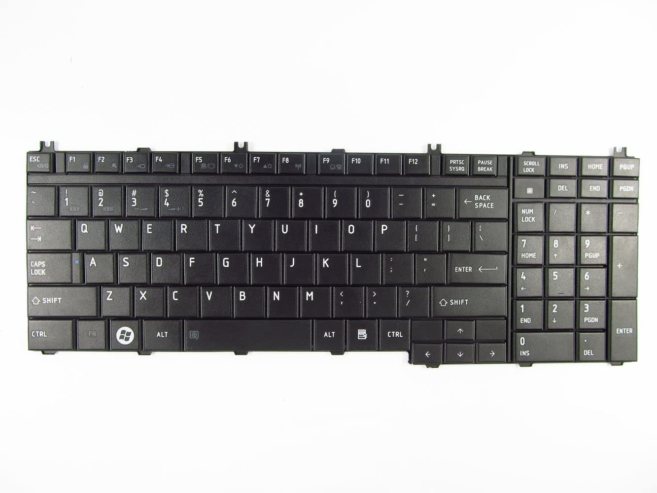 Abakoo New Keyboard for Toshiba Satellite P300 P200 P205 P305 L350 L355 P505 P500 L505 A500 A505 Qosimio G50 X300 X305 L510 L515 L581 L550 L555 L505D-GS6000 L505D-S5983 L505D-ES5026 ES5025 Black US