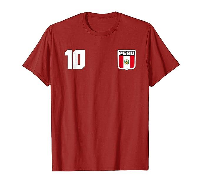 Mens Peru T-shirt Peruvian Flag Soccer Futbol Fan Jersey 2XL Cranberry