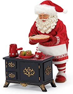 Department 56 Possible Dreams Santa Bon Apetit Apple Pie and Cocoa Figurine Set, 10 Inch, Multicolor