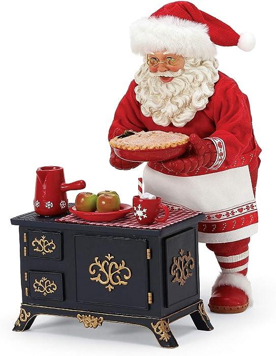 Department 56 Possible Dreams Santa Bon Apetit Apple Pie and Cocoa Figurine Set, 10 Inch, Multicolor