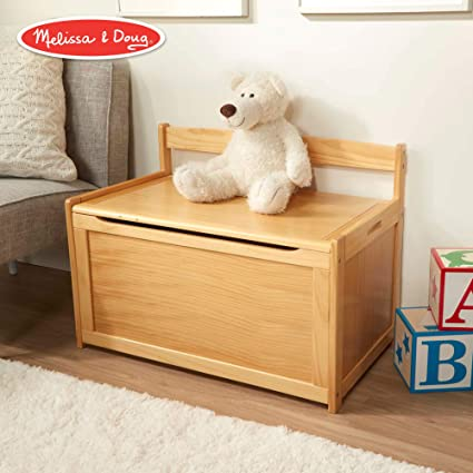 Melissa Doug Wooden Toy Chest Sturdy Wooden Chest 825 Cubic Feet Of Storage Easy To Assemble Honey Blonde