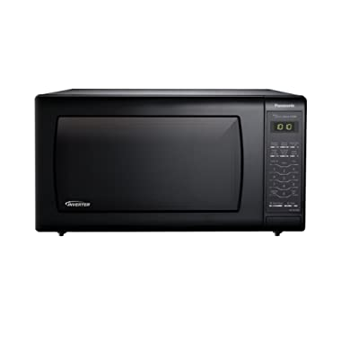 Panasonic NN-SN736B Black 1.6 Cu. Ft. Countertop Microwave Oven with Inverter Technology