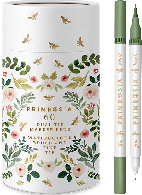 Set of 7 PentrenzMaria Premium Refillable Burgundy Rose Pens