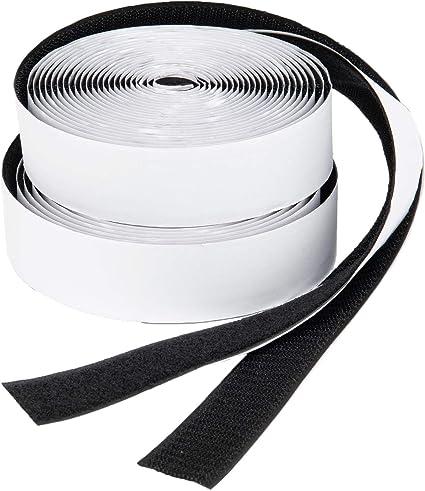 Selbstklebendes Klebepad Flauschband und Hakenband Accp 25m Doppelseitig Klettband Selbstklebend Extra Stark Klettverschluss