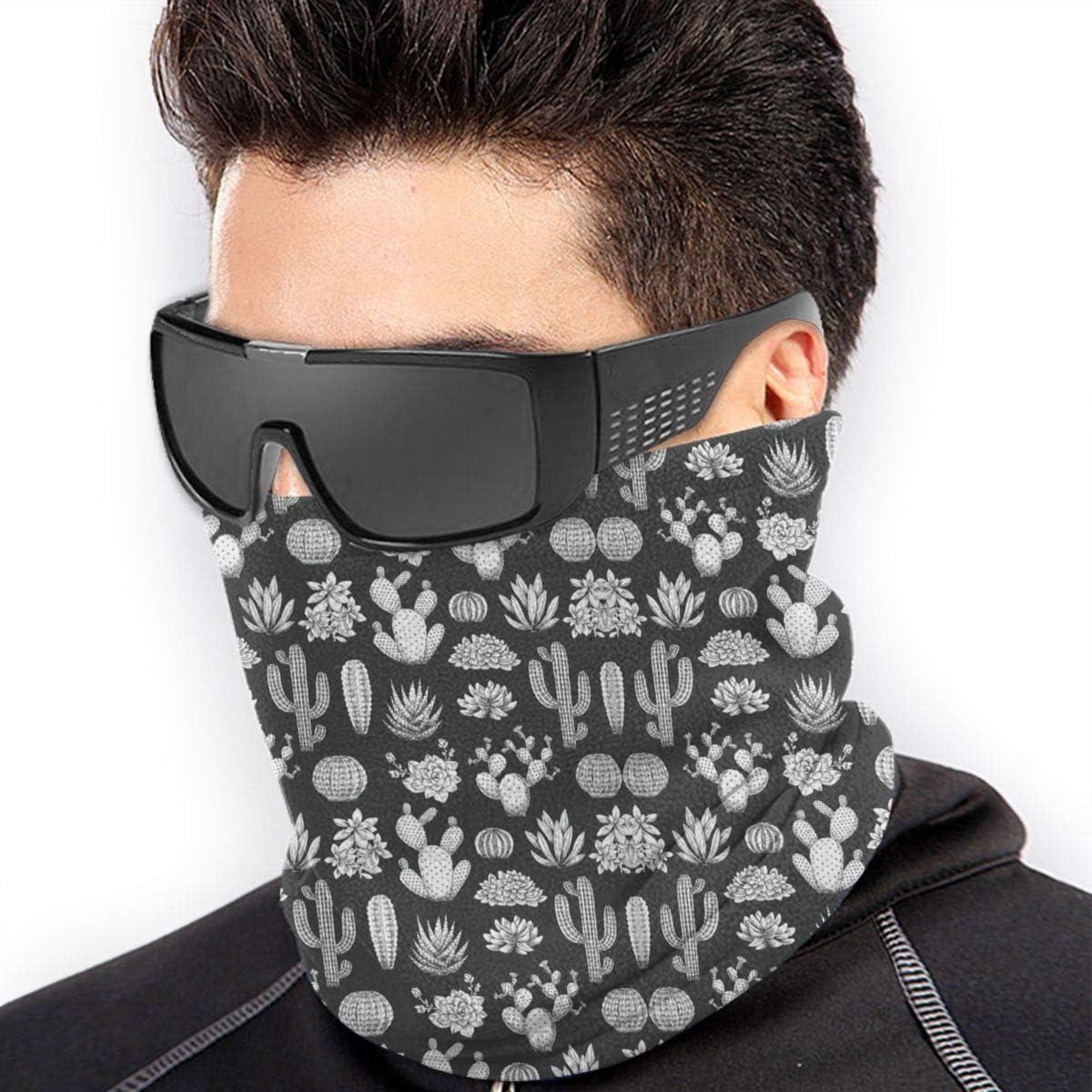 Microfiber Mask//Neck Warmer Gaiter,Cactus Printing Head Wrap,Headband
