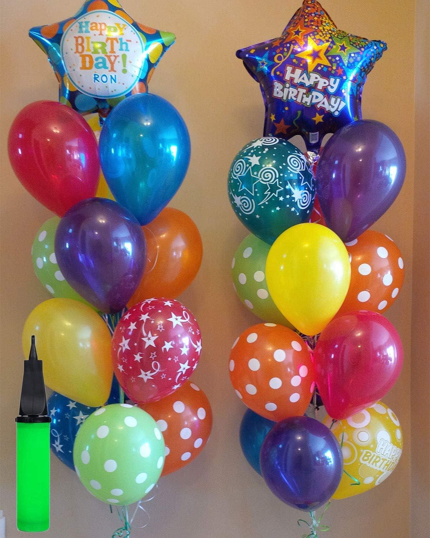 Winice Balloon Pump Birthday Balloons Perfect Hand Manual Inflator for Holiday Christmas Party Wedding Random Color