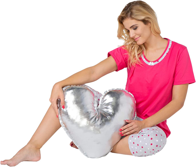 Big Size Pyjama Femme Grande Taille Deux Pi/èces Ensembles T-Shirt Pantalon Coton Plus Size avec Impression 2XL-6XL