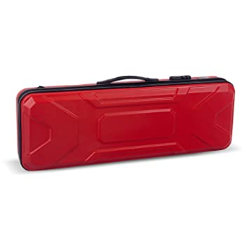 Crossrock CRA400VFRD 4/4 Full Size Violin Case, Zippered ABS Molded Backpack Style in Red