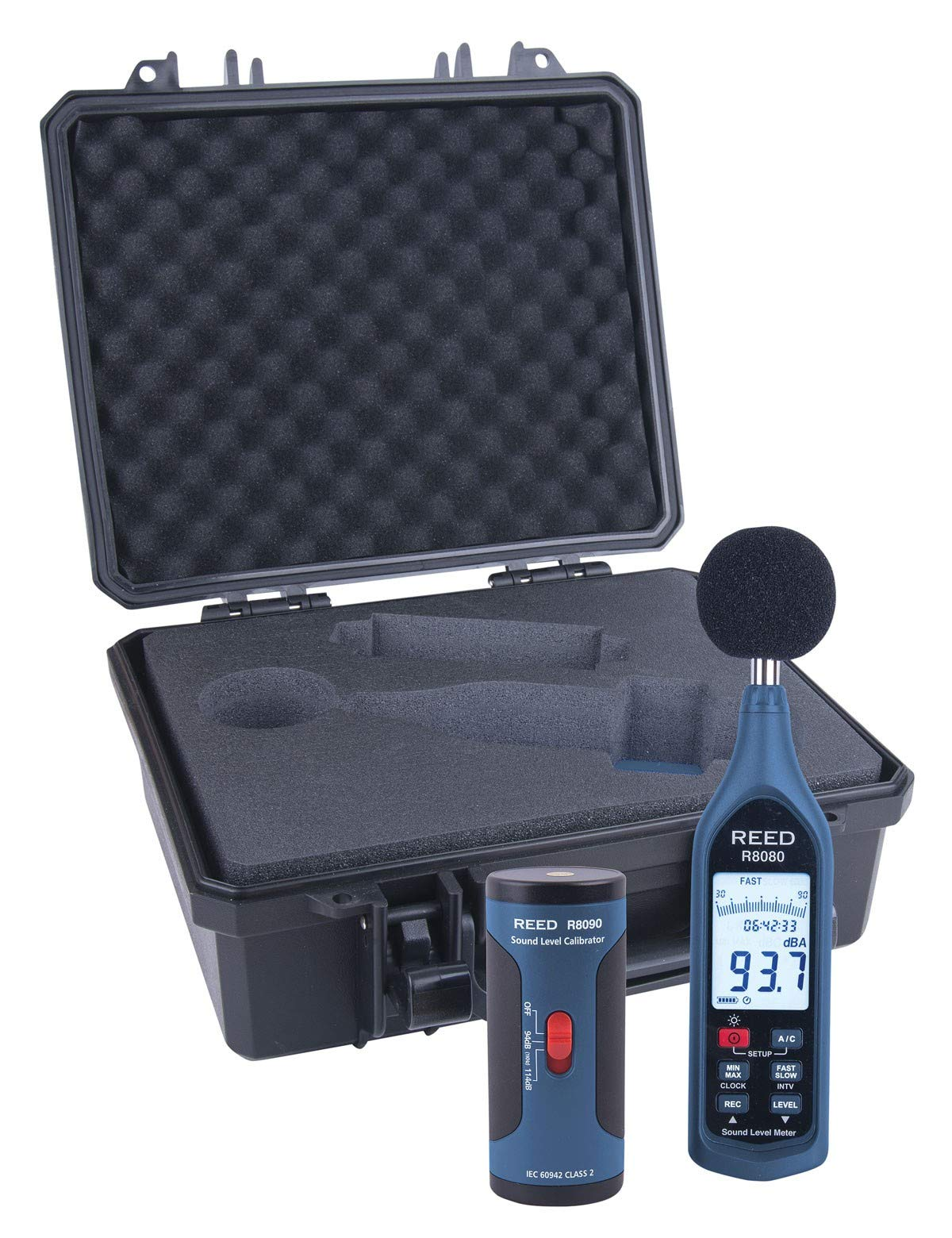 REED Instruments R8080-KIT Data Logging Sound Level Meter and Calibrator Kit by REED Instruments