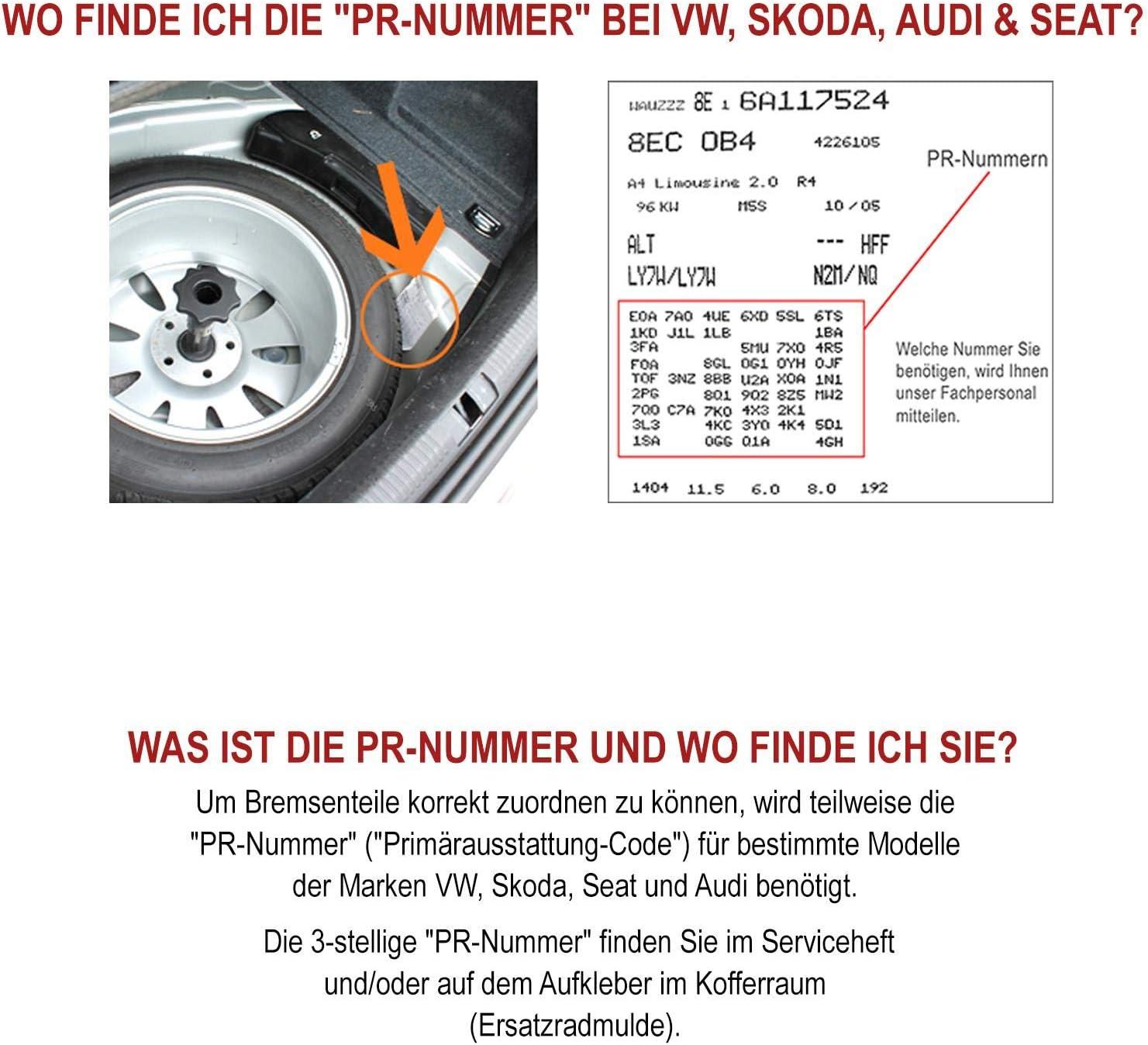 2x Bremssattel hinten links rechts NB PARTS GERMANY 10057778