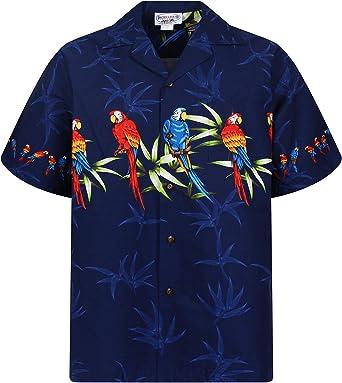 Pacific Legend | Original Hawaii Camisa | Hombre | S – 4 x l | manga corta | frontal de funda | Hawaii de Print | Papagayo palmera hojas, azul: Amazon.es: Ropa y accesorios