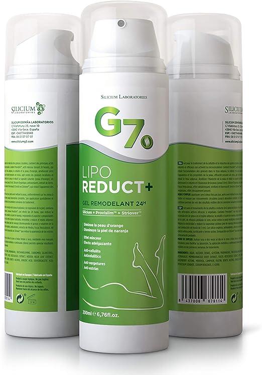 SILICIUM G7 Lipo-Reduct | Crema Anticelulítica Quemagrasas Para ...