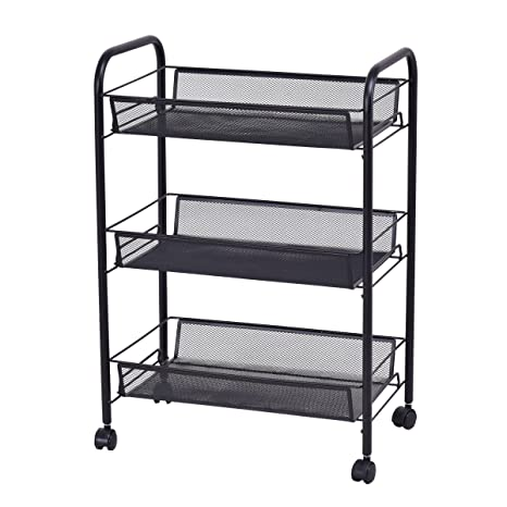 Other Home Organization Utility Cart Shelves Shelf 3 Tier Home Office Kitchen Storage Organizer New Household Supplies & Cleaning