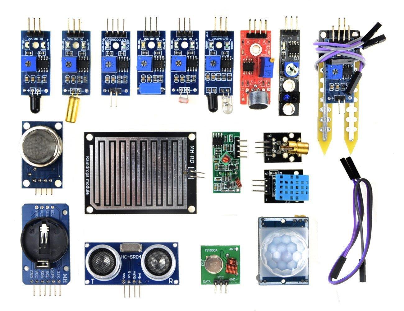 Wingoneer 16pcs Lot Sensor Module Board Kit For Arduino Mini Project On Pyroelectric Fire Alarm Electronics Raspberry Pi 3 2 Model B Industrial Scientific