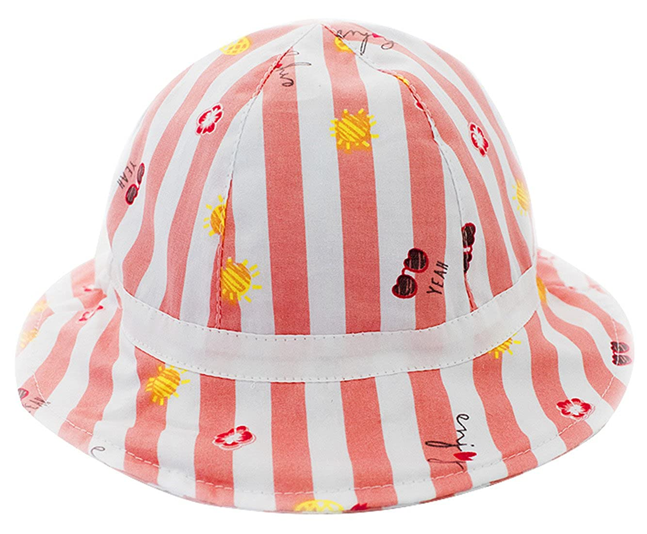 54be29f3f86 Amazon.com  Kids Beach Cotton Hat Stripes Sun Protection Bucket Hat  Children s 50+ UPF Sun Protective Wide Brim Bucket Hat for 2-4T  Clothing