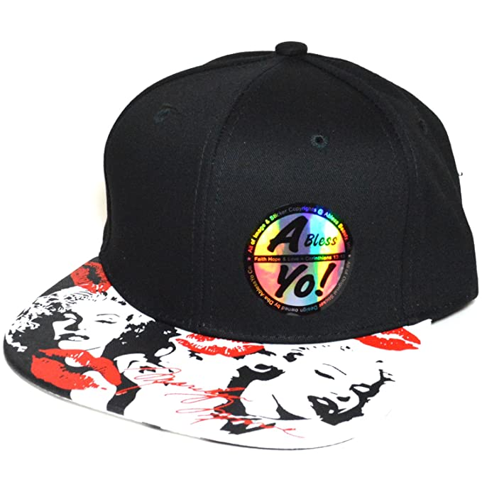 f83c4b59 Movie Star Hat Marilyn Monroe Printed Bill Flat Classic Snapback Cap AYO1029