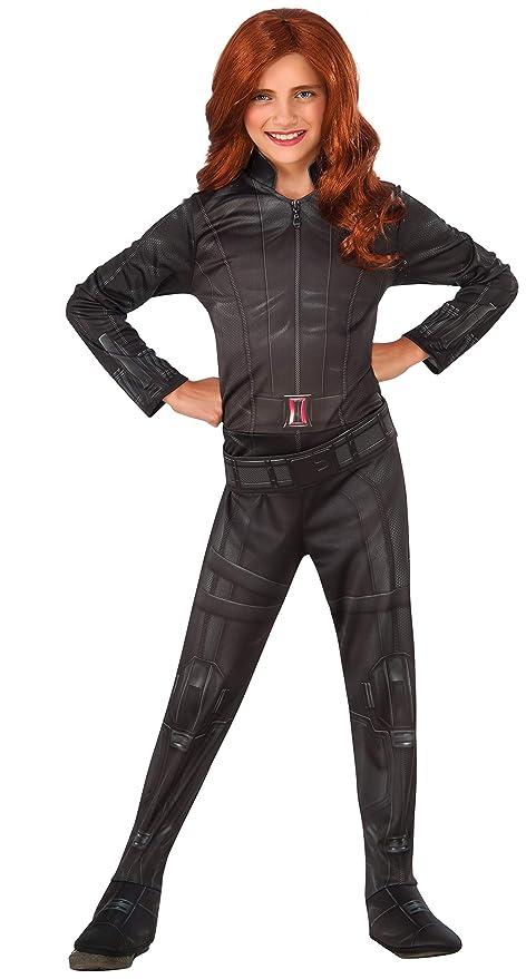 Rubies 620767- Disfraz de Viuda Negra para Niñas, Large (talla del fabricante: 8-10 años)
