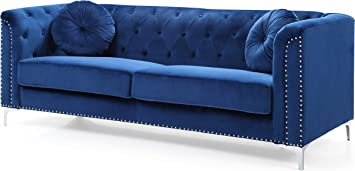 Amazon.com: Glory Furniture Pompano G781A-S Sofá, Azul ...