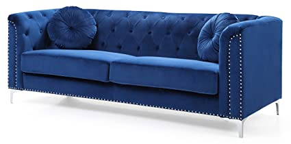 Amazon.com: Glory Furniture Pompano G781A-S Sofa, Navy Blue. Living ...