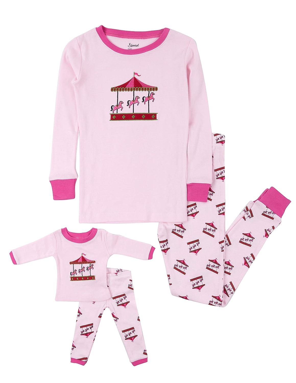 e8efcb1316 Leveret Kids    Toddler Pajamas Matching Doll    Girls Pajamas 100 % Cotton