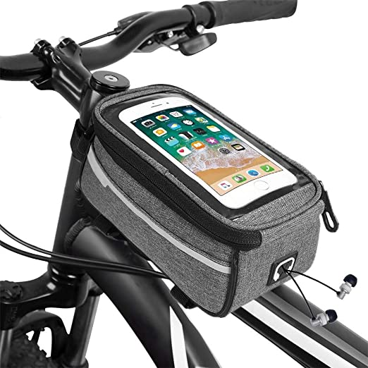 Bolsa De Bicicleta De Marco Con Pantalla Táctil Impermeable Barra ...