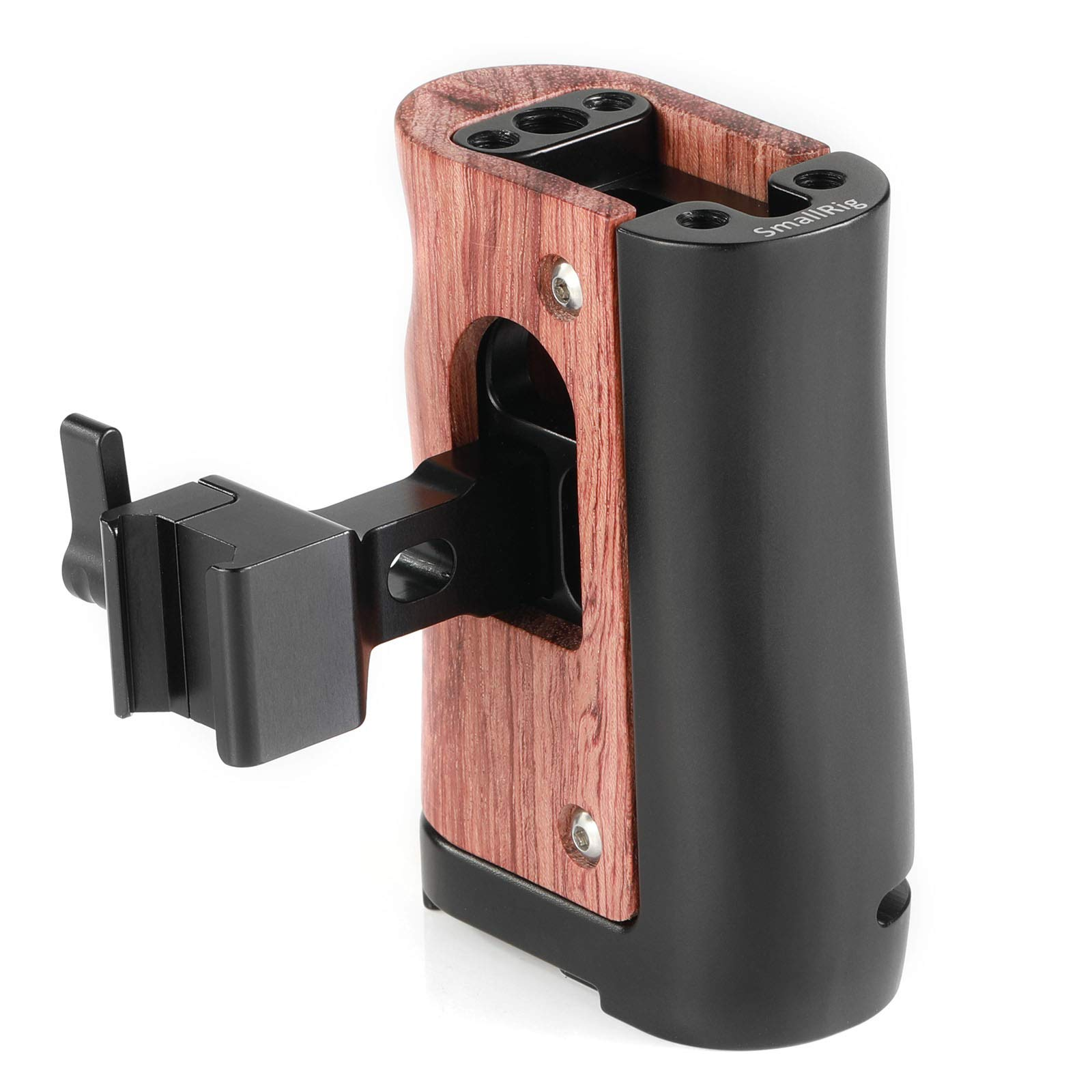 SMALLRIG NATO Handle Wooden Handgrip for BMPCC 4K and Z-CAM E2, Compatible with Samsung T5 SSD - HSN2270 by SMALLRIG