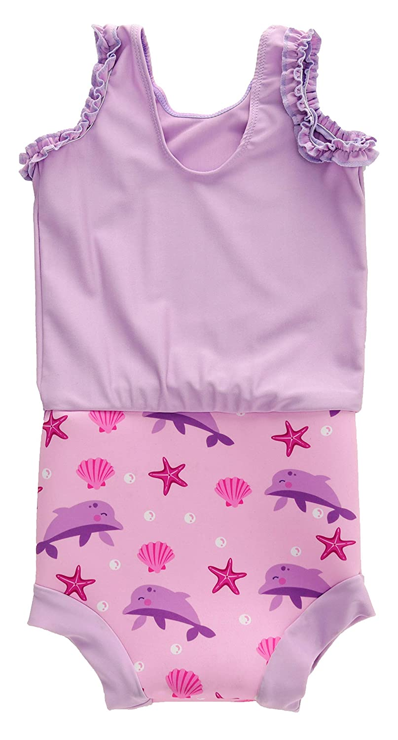 3-8 Months, Pink Dolphin Swimbubs Baby Swimming Nappy Kids Reusable Swim Diaper Girls Costume Boys Swimshorts