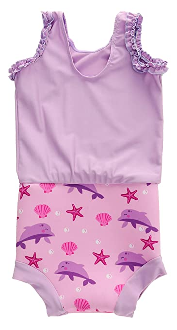 Swimbubs Baby Swimming Nappy Kids Reusable Swim Diaper Girls Costume Boys Swimshorts 24-36 Months, Blue Whale