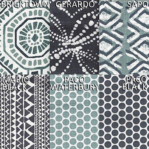 Close to Custom Linens Sham Sapo Waterbury Geometric Spa Green Slub Cotton Tailored Euro by Close to Custom Linens (Image #2)