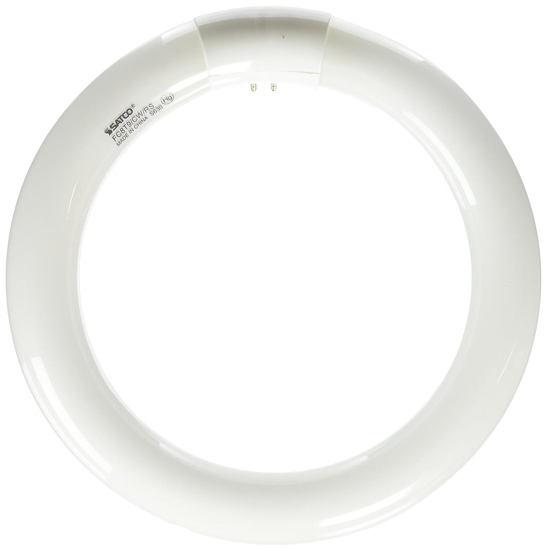 Satco S6500 4100K 22-Watt 4 Pin T9 Circline Lamp Cool White