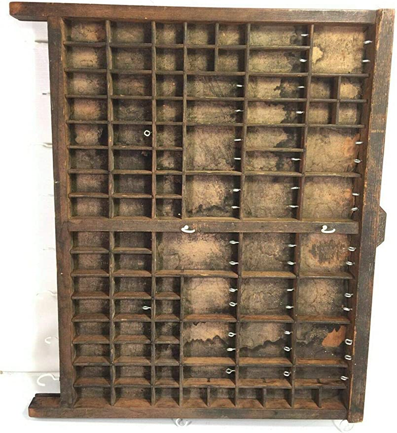 1 Vintage Hamilton Printer/'s Drawer//Tray//Shadow Box