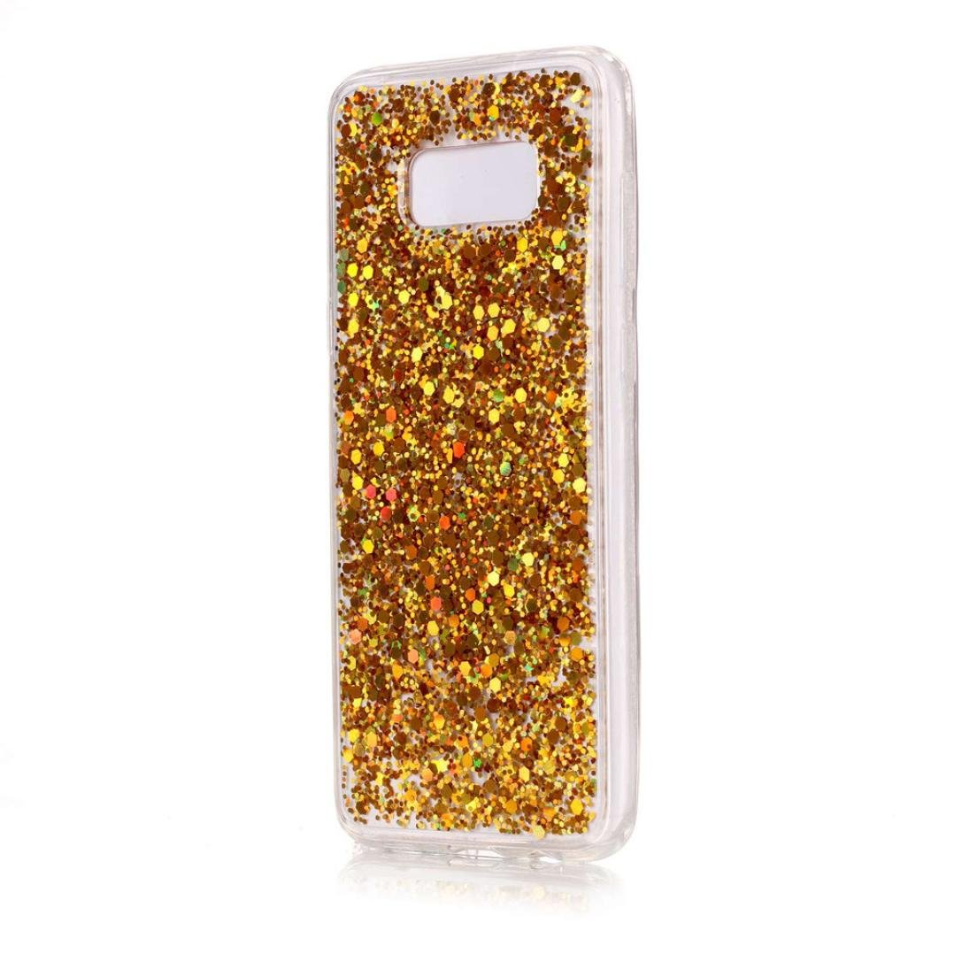 Amazon.com: Samsung Galaxy S8 Plus Case,Voberry Glitter Crystal Clear Soft TPU Shockproof Case Cover For Samsung Galaxy S8 Plus (Gold): Clothing