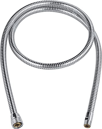 Grohe 46174000 59 In Metalflex Hose For Kitchen Faucet Inch Chrome Plumbing Hoses Amazon Com