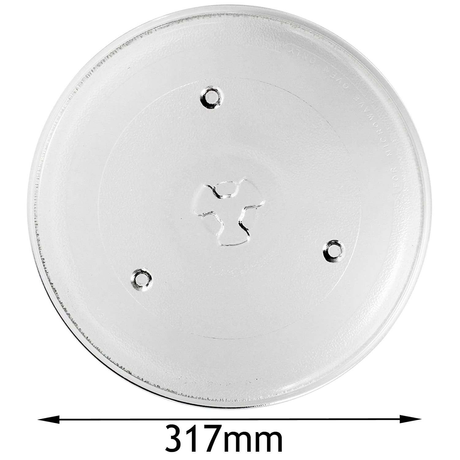 317mm SPARES2GO Glass Turntable Plate for Matsui Microwave Oven