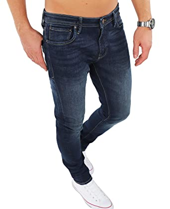 JACK   JONES Herren Jeans Hose Jjiglenn Elasthan Slim Fit (Dunkelblau (Blue  Denim Fit fd8441f388