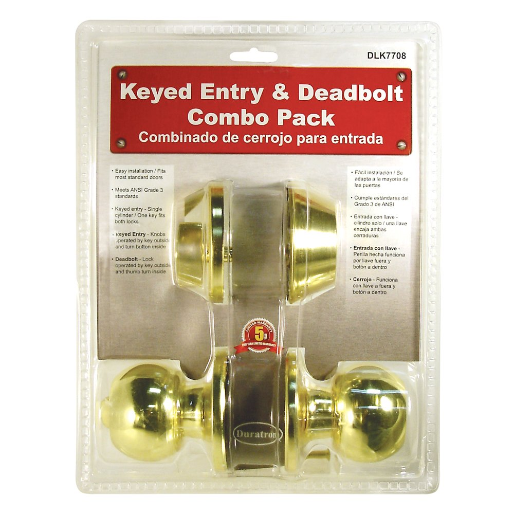 Single Cylinder Deadbolt Entrance Entry Round Door Knob Lock Combo Set Gold Color - - Amazon.com