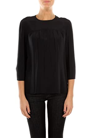 e7dc23787612f Prada Tops Women Silk Black P908BNERO Black 42  Amazon.co.uk  Clothing