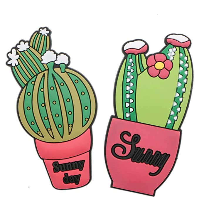 Amazon.com: AQUEENLY Croc Charms para zapatos, bonito cactus ...