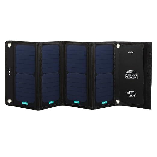 19 opinioni per AUKEY Pannello Solare 28W con 2 Porte USB di Ricarica, 2,4A Max a Porta, 4
