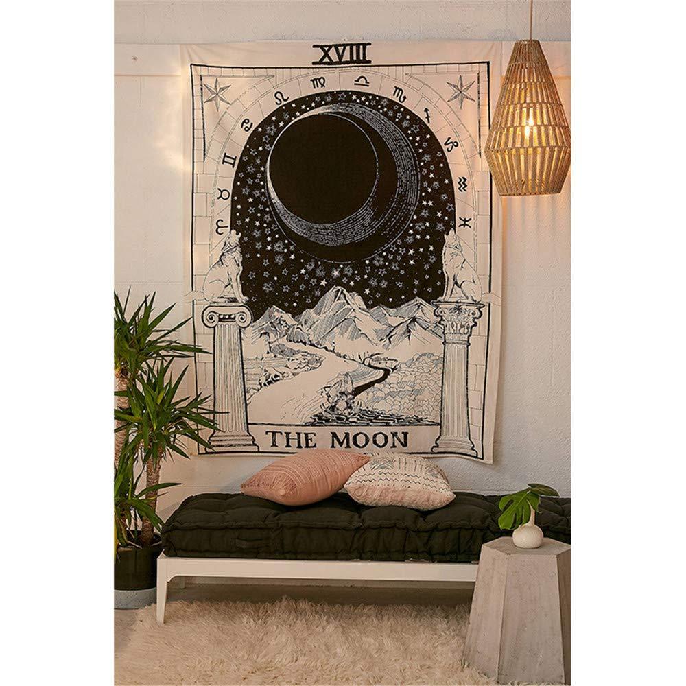 4,130 * 150cm 51 * 59 Pouces QAnter Inde Mandala Tapisserie Murale Sun Moon Tarot Tapisserie Murale Tapis Psych/éd/élique Tapiz Sorcellerie Mur Tissu Tapisseries
